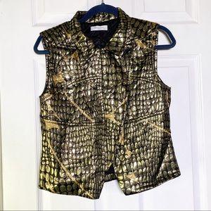 Emilio Pucci NWOT Gold Zippered Vest